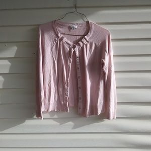 Cute Pink Button Up/Down Cardigan